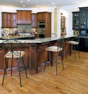 English Chestnut Stain with Onyx Glaze kitchen Black China Cabinet